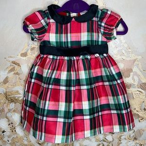 GYMBOREE Girls 3-6 Months Plaid Holiday Dress NWT